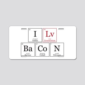 Periodic table of food aluminum license plates cafepress i lv bacon i love bacon aluminum license plate urtaz Gallery